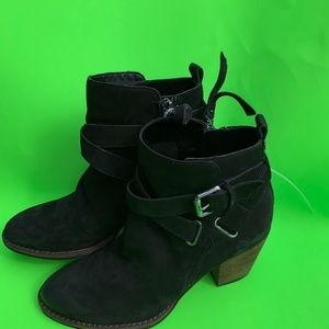 Sam Edelman Morris boot in black suede sz 7.5 $58